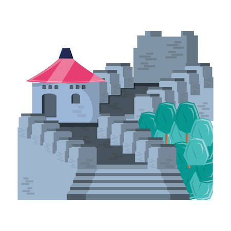 chinese wall isolated icon vector illustration design Иллюстрация
