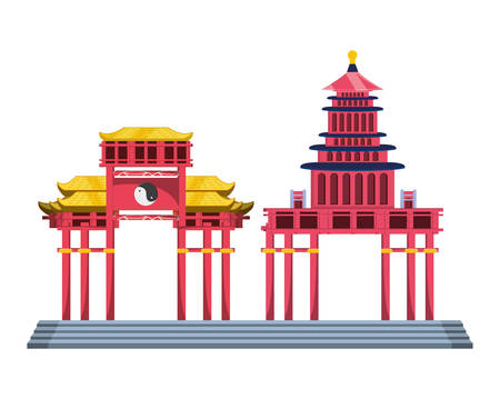 chinese portals isolated icon vector illustration design
