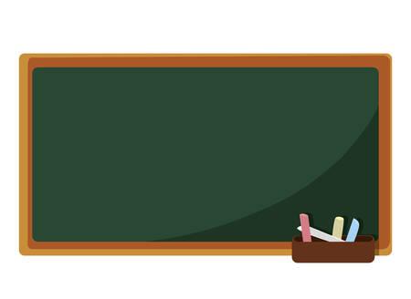 chalkboard classroom isolated icon vector illustration design