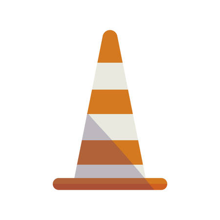 construction cone isolated icon vector illustration design