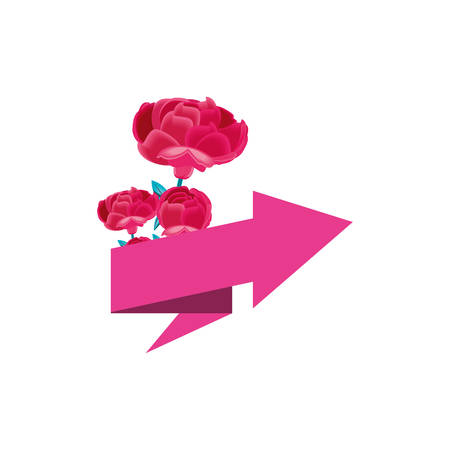 beautiful flower with arrow up vector illustration design