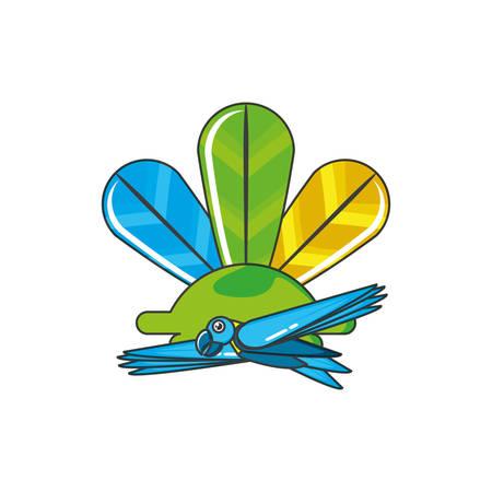 parrot bird animal with feathers decoration vector illustration design Illustration