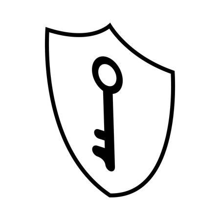 security shield with key vector illustration design Ilustração