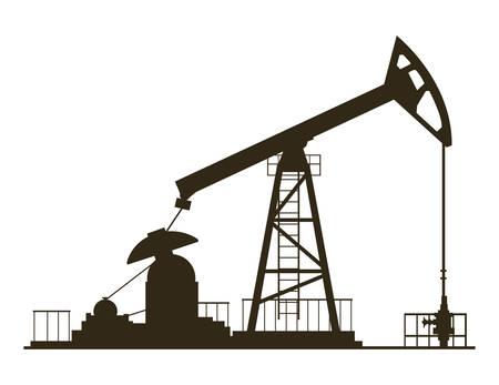 Planta de excavación de la industria petrolera, diseño de ilustraciones vectoriales