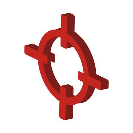 Rifle sight isolated icon vector illustration design