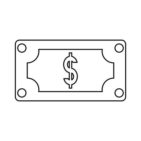 banknote money dollar currency payment vector illustration