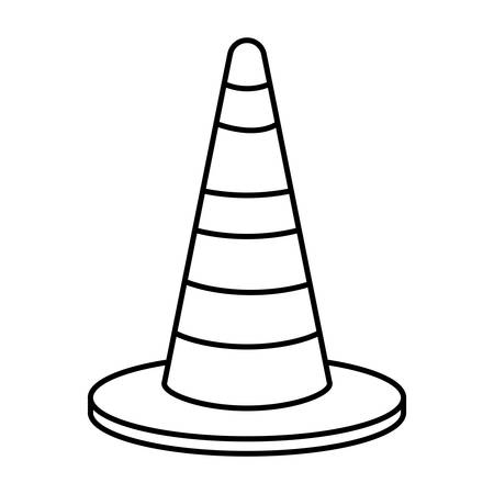 construction cone isolated icon vector illustration design Çizim