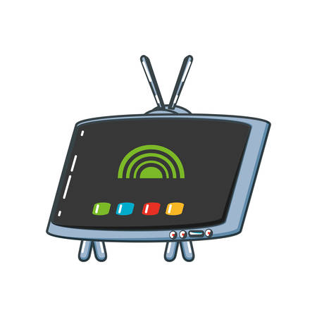 tv portable isolated icon vector illustration design