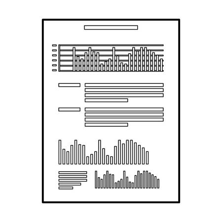 financial paper document with statistics vector illustration design