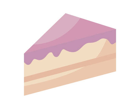 slice of sweet cake isolated icon vector illustration design