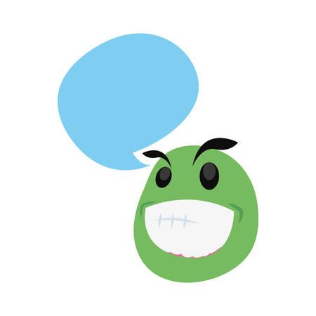 emoji face jester april fools day vector illustration