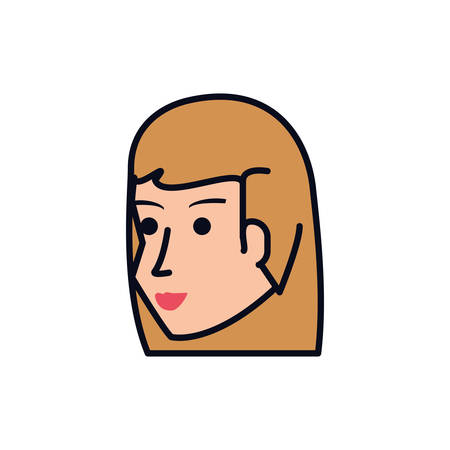 head of young woman avatar character vector illustration design