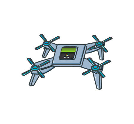drone technology isolated icon vector illustration design Vecteurs