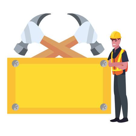 builder, outils, conseil, jour travail, vecteur, illustration