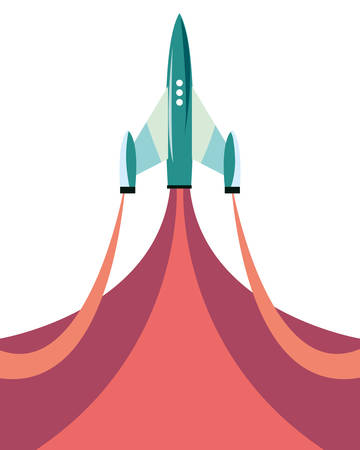 rocket launch travel galaxy vector illustration design 矢量图像