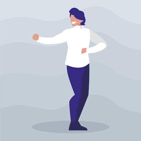 young dancer disco style character vector illustration design Vector Illustration