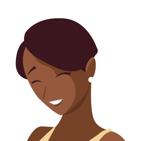 beautiful black woman character vector illustration design