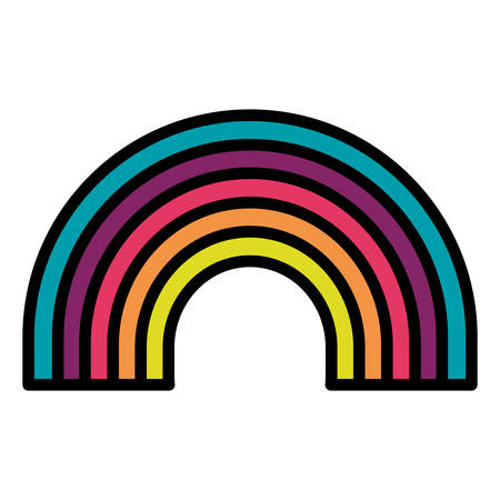 cute rainbow weather icon vector illustration design