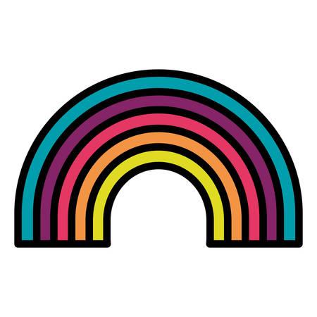schattig regenboog weer pictogram vector illustratie ontwerp