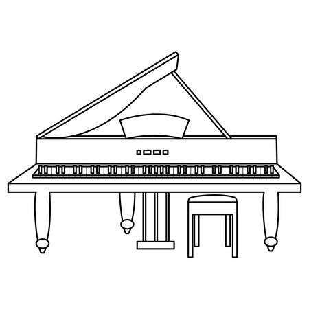grand piano instrument icon vector illustration design 向量圖像