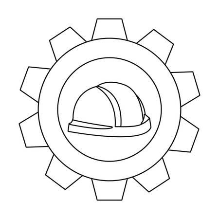 helmet and gear tool vector illustration design