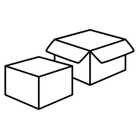box carton packing icon vector illustration design