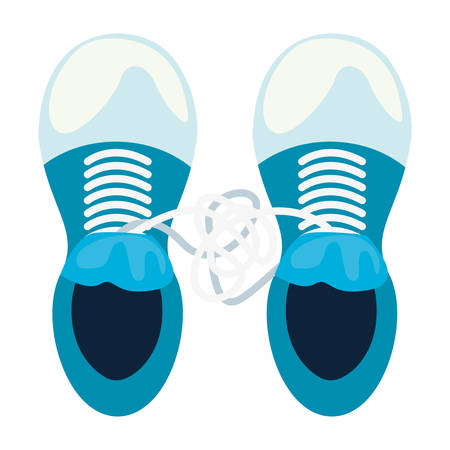 sneakers laces tied april fools day vector illustration 版權商用圖片 - 120921780