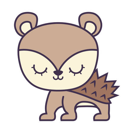 cute porcupine animal isolated icon vector illustration design