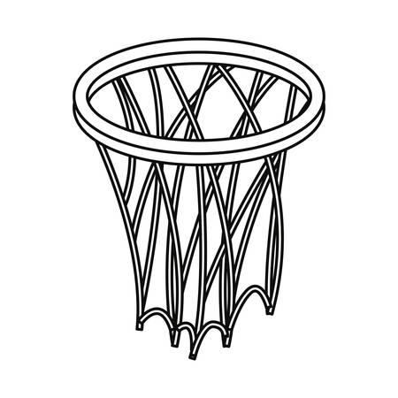 basketball sport hoop line vector illustration design Illustration