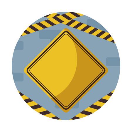 signaling alert in frame circular vector illustration design