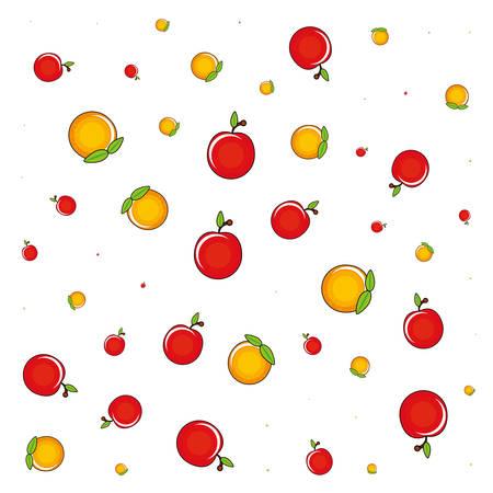 fresh fruits pattern background vector illustration design Vetores