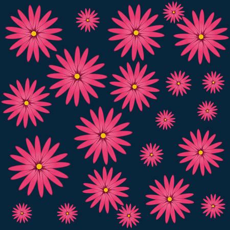 chinese flower natural pattern vector illustration design Illustration