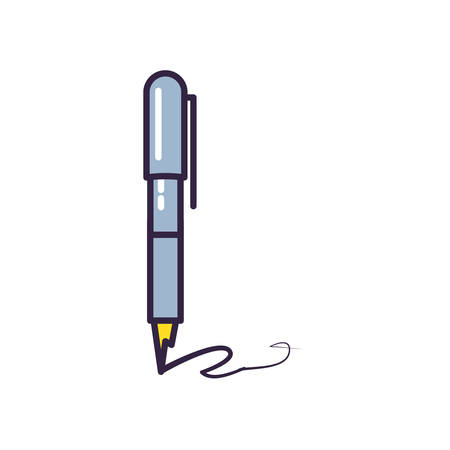 pen ink write isolated icon vector illustration design