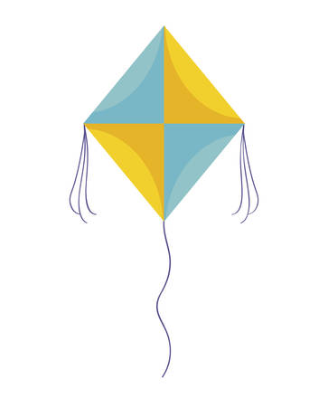 kite flying isolated icon vector illustration design