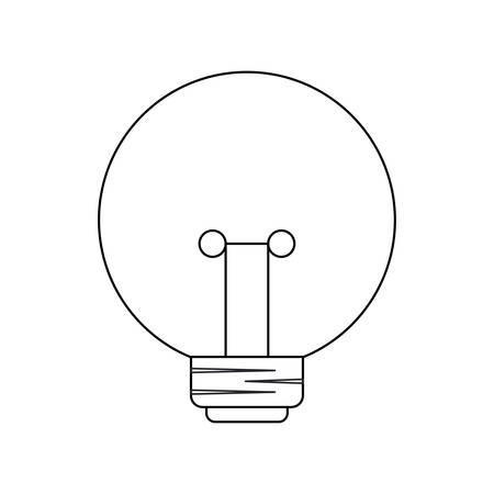 light bulb isolated icon vector illustration design Illustration
