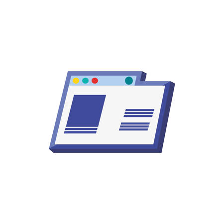 template web page isolated icon vector illustration design