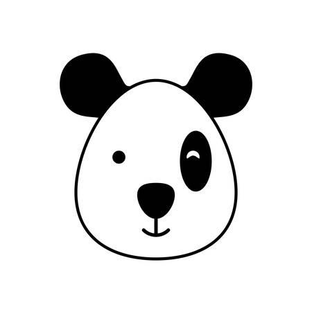 head of bear panda wildlife animal icon vector illustration design Standard-Bild - 121046038