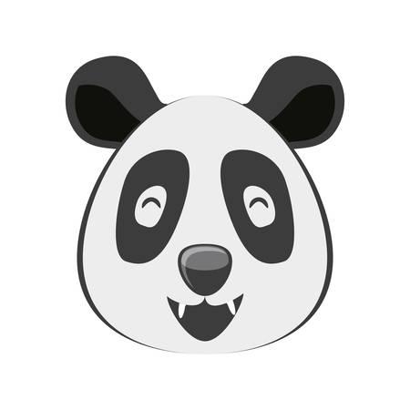 head of bear panda wildlife animal icon vector illustration design Standard-Bild - 121046202