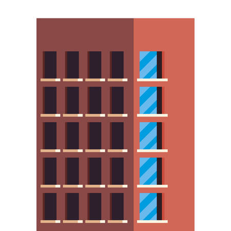 urban building construction icon vector illustration design
