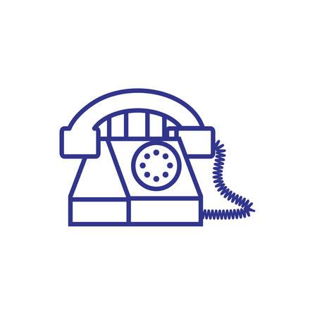 phone retro isolated icon vector illustration design
