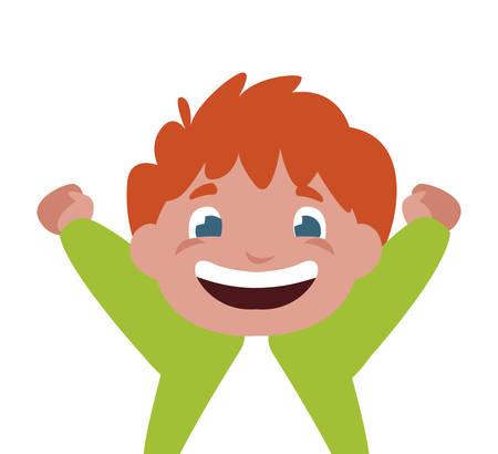 happy little boy character vector illustration design Ilustração Vetorial