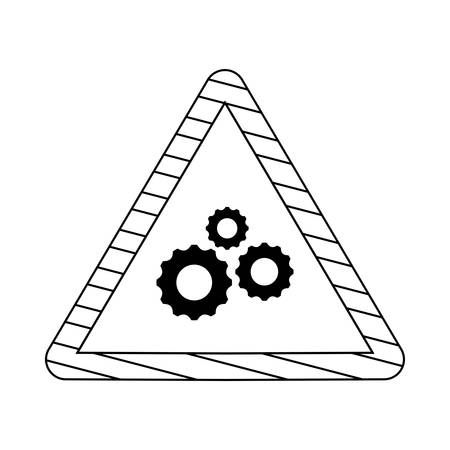 signaling with gears isolated icon vector illustration design Illustration