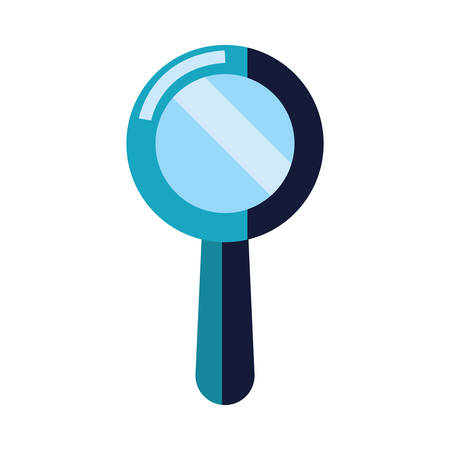 magnifying glass analysis on white background vector illustration