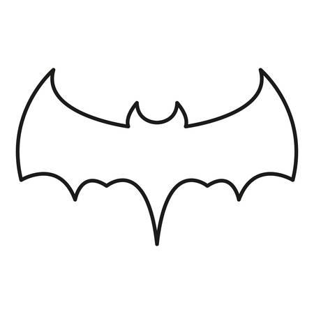 bat icon over white background, vector illustration Standard-Bild - 121159647
