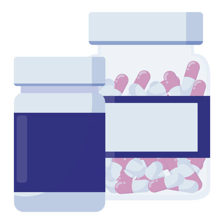 medicine pot drugs icon vector illustration design Banque d'images - 123240974