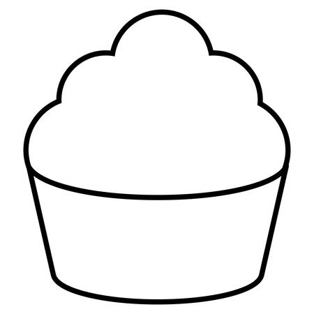 sweet cupcake bakery icon vector illustration design Illusztráció