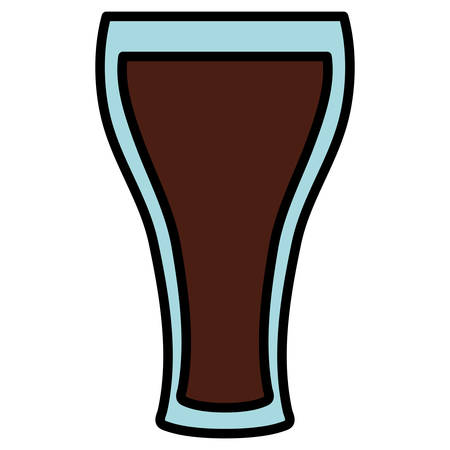 beer glass isolated icon vector illustration design
