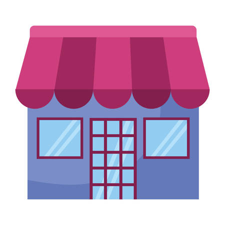 store building facade icon vector illustration design 向量圖像
