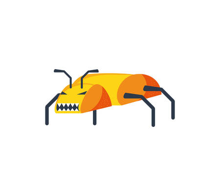insect virus attack isolated icon vector illustration design Illustration