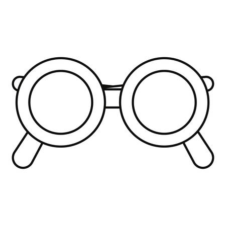 eyeglasses optical accessory on white background vector illustration outline Иллюстрация